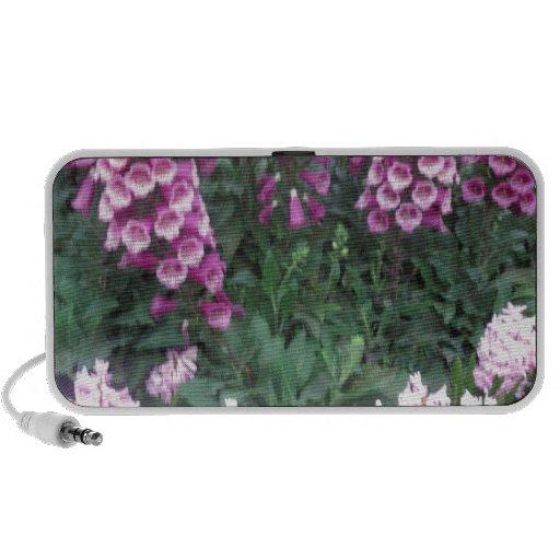 PINK Purple Flower Show: Love Sensual Romance Gift iPod Speakers