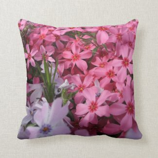 Pink & Purple Flower Throw Pillow