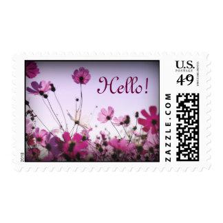 Pink & Purple Flowers Stamp