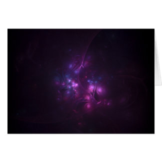pink purple fractals magic 3d card