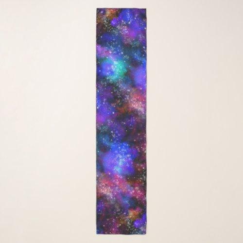 Pink Purple Galaxy Space Nebula Scarf