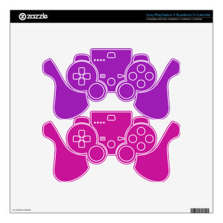 Pink & Purple Gaming Controller Skins Skins For PS3 Controllers
