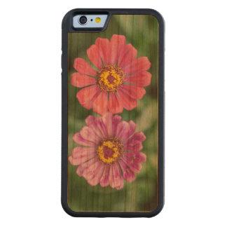 Pink & Purple Garden Flower Carved Cherry iPhone 6 Bumper Case