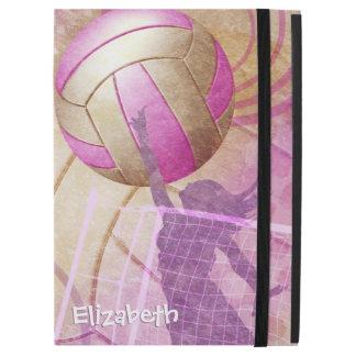 Pink Purple Girls Volleyball iPad Pro Case