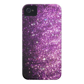 Pink Purple Glitter Sparkle iPhone Case iPhone 4 Cases