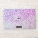 "Pink purple glitter sparkles ombre white marble HP laptop skin<br><div class=""desc"">Pink purple glitter sparkles ombre white marble with chic faux sparkles and glitter.</div>"