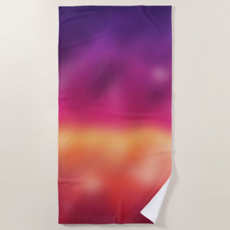 Pink Purple Gradient Blur Abstract Background Beach Towel