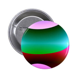 Pink Purple Green Abstract Pinback Button