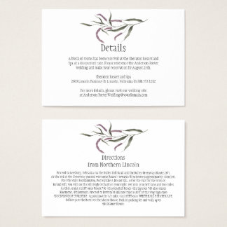 Pink Purple Green Floral Detail Enclosure Cards