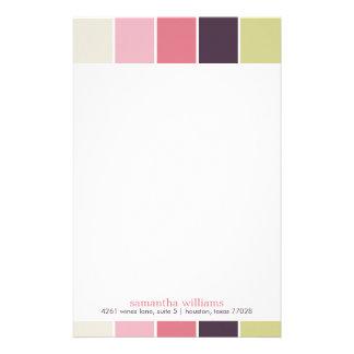 Pink Purple Green Modern Decorative Color Blocks Stationery