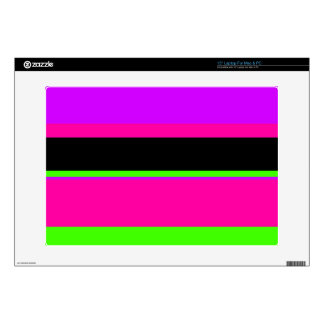 Pink/Purple/Green Neon Stripes Decals For Laptops
