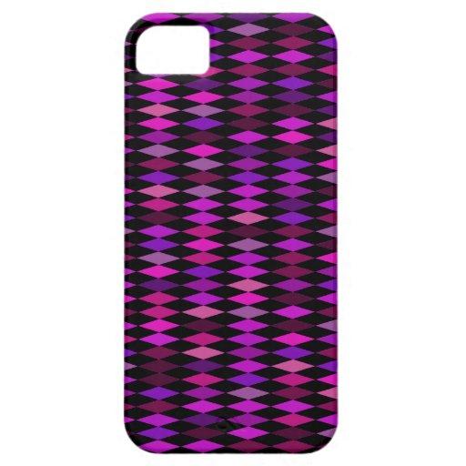 pink purple harlequin pattern iPhone 5 case