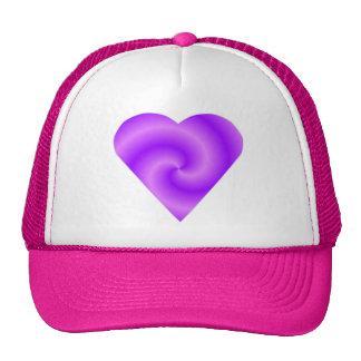 Pink Purple Heart Hat