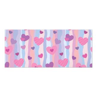 Pink & Purple Hearts Pattern Card
