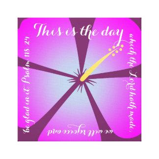 Pink/Purple Hibiscus Canvas Bible Verse