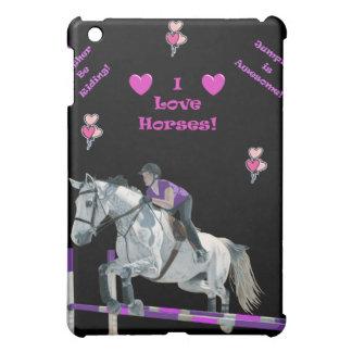 Pink & Purple Horse Jumping iPad Speck Case iPad Mini Case