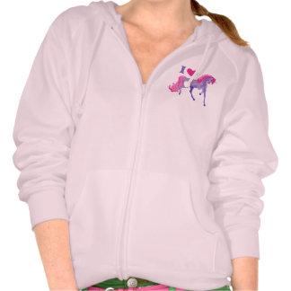 Pink & Purple I Heart Love Unicorns Tshirts