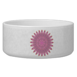 Pink & Purple Kaleidoscope Flower Pet Water Bowls