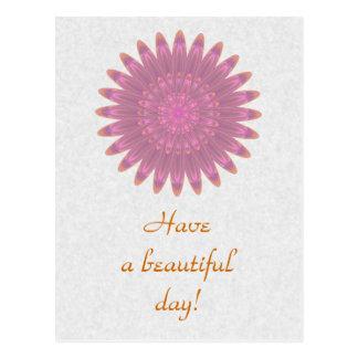Pink & Purple Kaleidoscope Flower Postcard