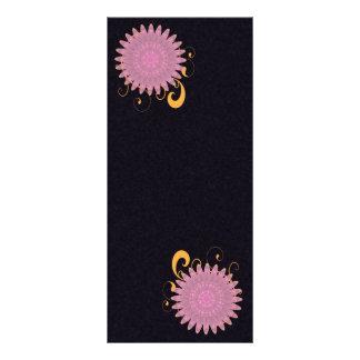 Pink & Purple Kaleidoscope Flower Rack Card
