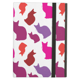 Pink Purple Kitty Cat Silhouettes Pattern Gifts iPad Air Covers