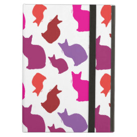 Pink Purple Kitty Cat Silhouettes Pattern Gifts iPad Air Case
