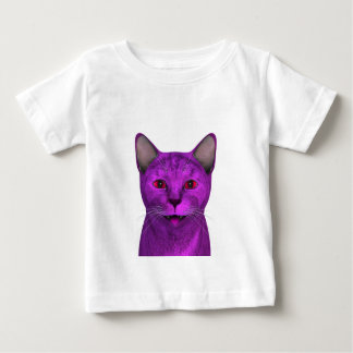 Pink Purple Kitty Face Baby T-Shirt