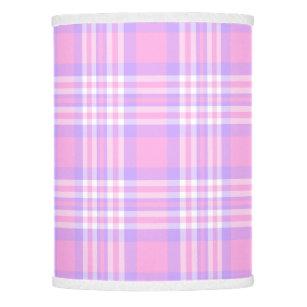 Lavender purple lamp shades zazzle pink purple lavender plaid gingham check girl lamp shade aloadofball Choice Image