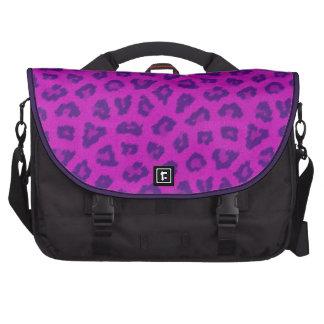 Pink & Purple Leopard Print Laptop Bag