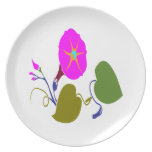PINK PURPLE  LILLY LILY FLOWER PLATE