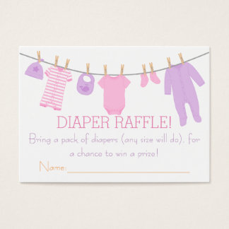 Pink & Purple Little Clothes Diaper Raffle Tickets