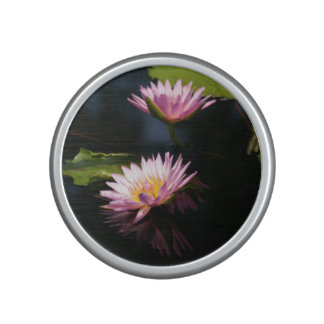 Pink Purple Lotus Waterlilies Bluetooth Speaker