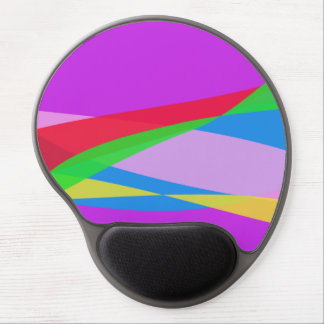 Pink Purple Minimalism Abstract Art Gel Mouse Pad