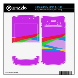 Pink Purple Minimalism Abstract Art Skin For BlackBerry Bold