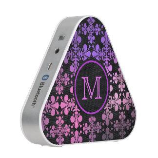 Pink purple monogram speaker
