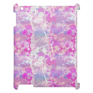 Pink Purple Multi Color Paint Splash Pattern Case For The iPad 2 3 4