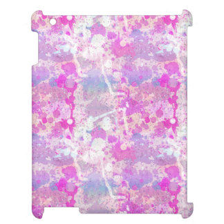 Pink Purple Multi Color Paint Splash Pattern iPad Covers