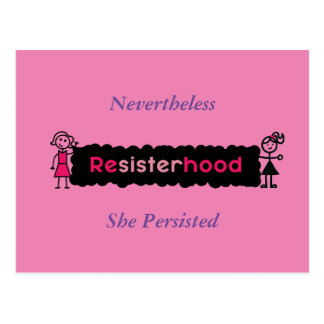 Pink Purple Nevertheless She Persisted Political Postcard