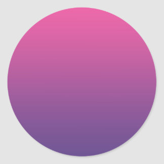 Pink & Purple Ombre Classic Round Sticker
