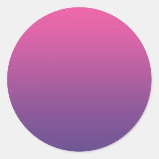 Pink & Purple Ombre Classic Round Sticker