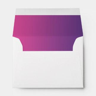 Pink & Purple Ombre Envelopes