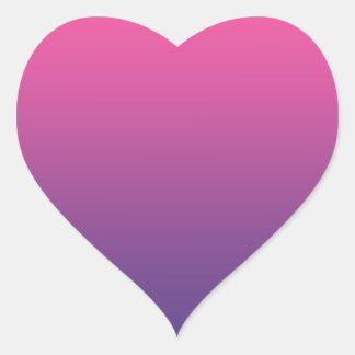 Pink & Purple Ombre Heart Sticker