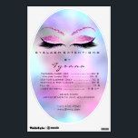 "Pink Purple Ombre Oval Price List Lashes Makeup Wall Decal<br><div class=""desc"">florenceK design</div>"