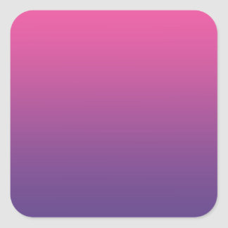 Pink & Purple Ombre Square Sticker