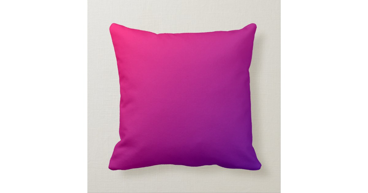 Pink Purple Decorative Pillows : Pink Purple Ombre Throw Pillow Zazzle