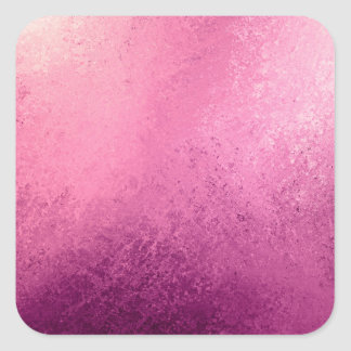 Pink Purple Ombré Watercolor Grunge Rustic Print Square Sticker