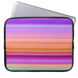 Pink Purple Orange Stripes Laptop Laptop Sleeve