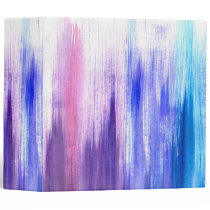 Pink Purple Paint Brush Strokes Painted Watercolor Binder
