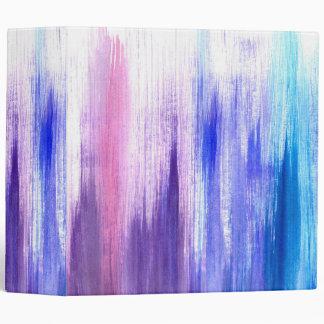 Pink Purple Paint Brush Strokes Painted Watercolor Binder