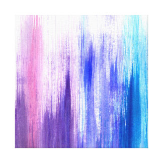 Pink Purple Paint Brush Strokes Painted Watercolor Canvas Print